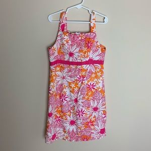 Lilly Pulitzer girls floral printed dress #1929